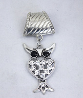 10pcs/lot 2014 Fashion DIY  women scarf charm necklace jewelry silver owl pendant gift scarves accessories free shipping