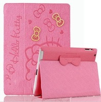 For ipad air cute smart cover case Hello kitty cover case for apple ipad air ipad5 tablet KT case Free shipping