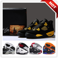 100% Original  Authentic Flight IV Popular men's basketball shoes Genuine Leather Top Quality J4 men athletic shoes  zapatillas