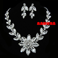 The bride accessories wholesale necklace earrings twinset wedding accessories wedding jewellery accessories
