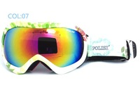 Free shipping TOP grade Dual lens snowboarding eyewear Winter anti-ultraviolet& fog skiing glasses/Unisex snow goggle