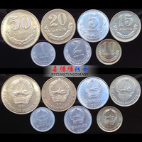 Mongolia 7 PCS Coins Set In Circulation, 90% New