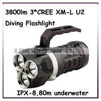 Airmail Free CrazyFire Diving Dive Flashlight Max Diving 80m Waterproof IPX-8 Magnetic Control Switch 3800lm Powered By 4*18650