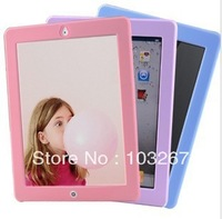 Free shipping Silicon Solid Fashion Case Cover For ipad 2 3 4 (Assorted Colors)