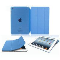 1Set=2pcs PU Leather Magnetic Smart Cover Skin+Crystal Hard Back Case Cover Shell For iPad Mini Multi-Color Free shipping