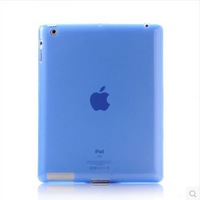 Free Shipping Translucent Cover Case for Apple iPad 4 3 2 (Assorted Colors)