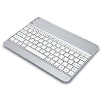 White Aluminum 2-in-1 Bluetooth Wireless Keyboard Case Cover /Built-in Stand for Apple iPad Air / IPad 5 5G 5th Generation
