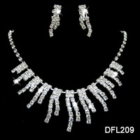 Neckace earrings set Elegant Rhinestone Crystal Wedding Bride Party  B12