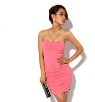 Club sexy and the wind side hollow slim package hip dress Free Shipping