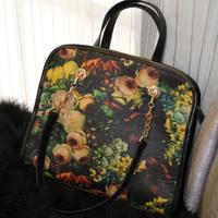 New Arrival fashion bags for Women messenger bag 2013 fashion vintage oil painting bag rose women's doodle print handbag