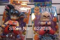 Free Shipping,Japan Anime Dragon Ball 2 Goku Kuririn 2PCS/set PVC Action Figure SIZE:18CM Heiht