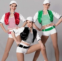 Children Cha-Cha/Latin Modern Dance Perform Suit (Vest+Shawl+Shorts) Mixed Colors&Sizes