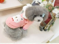 2 yopet pet autumn and winter clothes bow tie bear dog clothes thick sweatshirt teddy