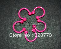 Circular barbell horseshoe ring 16G 316stainless steel Nipple tongue barbell Circular Barbell HorseShoe
