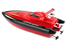 New 4 Channel 2.4G RC Remote Control High Speed Racing Boat(20km/h) Kids Gifts Red Free shipping JZ33(China (Mainland))