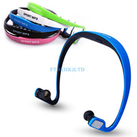 Fashion Head-mounted Sport MP3 Headset Earphone Sports mp3 Running Hanging Hang After Ear Type Free Shipping