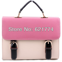 New Hot Stylish Women's Handbag Female Elegant PU Messenger Bag Retro Candy Lady Tote Shoulder Bag Wholesale Free Shipping