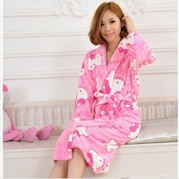 new fashion warm flannel bathrobes women robes ladies' fashion bathrobe