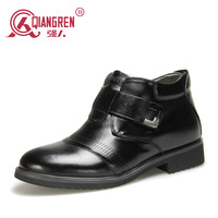 new 2014 flats Men Shoes Winter Boots Male Cotton-padded Dress Shoes Genuine Leather Shoes Trend Men's Boots 9s-3251c