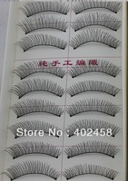 50 pairs/ 5boxes  Reusable Natural and Regular Long False Eyelashes hand made free shipping