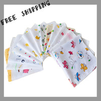 [TOWEL] 35*35cm 20g 20pcs/lot 100% Cotton Baby Wash Cloth Infant Towel Baby Feeding Towel Handkerchief Baby's Towels Baby Bibs