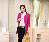 The new spring coat Korean version of women's casual long-sleeved women shoulder pads small suit thin section