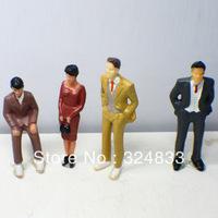 100pcs  1/75 Painted Figures CF-1/75 HO Scale Model color painted Figures model humans