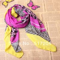 Korea's Design Large Printed Scarves Spring and Autumn Shawls Scarves