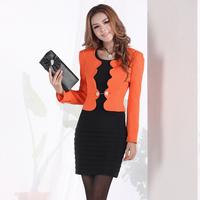 Work wear women's set fashion formal dresses one-piece dress ol elegant blazer