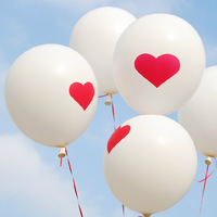 Free Shipipng 200pcs/lot Heart Pattern Balloon For Wedding Decoration Party Decoration Garden Supplies Funny