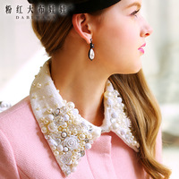 2013 free shipping new arrived   outerwear female Gemstone collar  ruffle slim wool coat