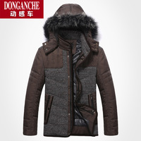 free shipping Ofdynamism car 2013 male white duck down coat medium-long down large fur collar outerwear men's clothing thick