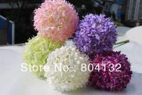 "8Pcs 75cm/29.53"" Length Artificial Silk Flowers Simulation Single Branch Hydrangea Large Flower Head Home Decoration"