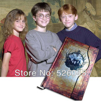 [No minimum]Promotion!1pcs Harry Potter Hardcover notebook/ Notepad/Diary book-Yellow Color, Free shipping