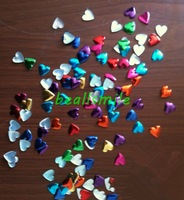 hot Free shipping 12mm colorful aluminium heart-shaped panel pressing hot fix nailhead Rhinestud DIY Spike accessory 500pcs/lot