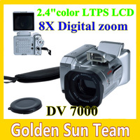 New HD Video 270' Rotation Display 2.4 Color LTPS LCD 8X Digital ZOOM DV7000 MINI DV Freeshipping