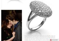 Twilight Bella Silver Ring full flash rhinestone drill unique ring high quality vinatge engagement ring free shipping