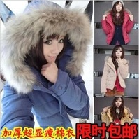 2013 women's thickening cotton-padded jacket slim cotton-padded jacket winter short design wadded jacket outerwear