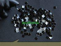 Free shipping 7*7mm black square aluminium  panel pressing  hot fix nailhead Rhinestud DIY Spike accessory 500pcs/lot
