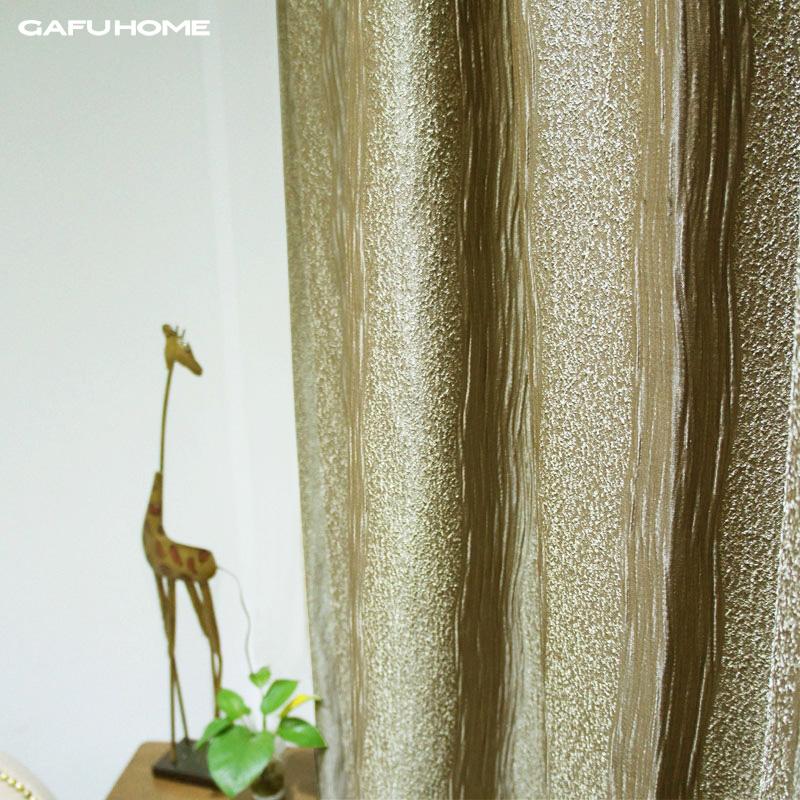 Dupla camada espessamento breve cortina tarja abstrato moderno(China (Mainland))