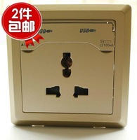 USB socket panel with 86 multi-function switch 2.1A universal power socket ipad mobile phone charger