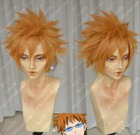 Rocko leo tea orange cos wig