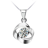 100% genuine 925 sterling silver pendant necklaces of women Swiss Diamond zircon neck chain jewelry Lovers' gifts