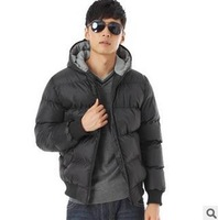 High Quality!The new fashion movement down jacket man with thick cotton-padded jacket cotton-padded clothes coat free shipping