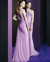 2014 Wholesale Fashion Sexy Beaded Thin Shoulder DaiLou Back Open Fork Chiffon Dance Party Dress Free Shipping