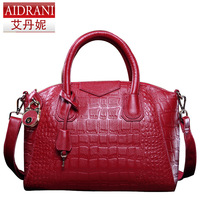 2014 crocodile pattern genuine leather women fashion bag trend bag platinum trend bag vintage bag