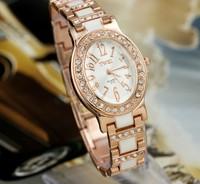 New fashion bracelet watch luxury oval rhinestone wristwatch