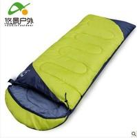 free shipping / outdoor sleeping bag thickening / ultralight camping sleeping bag envelope cap / warm sleeping bag lunch adults
