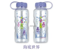 Glass series water bottle leak-proof sports tritan transparent 650ml