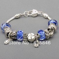 Free shipping Fashion European Style 925 Silver Charm Bracelets Bangle for Women Silver Animal Beads Bracelet DIY Jewelry Pa1016